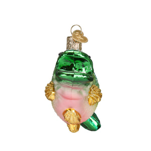 largemouth bass fish ornament glass christmas decoration for the holidays from old world christmas side view