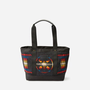 Pendleton woolen mills big medicine zip tote bag purse wool cotton