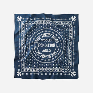 pendleton woolen mills jumbo bandana navy blue white cotton neckerchief