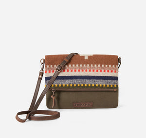 Pendleton Foldover Clutch, Bridger Stripe