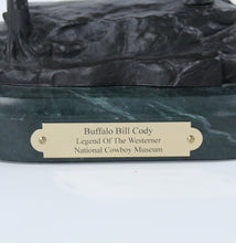 Load image into Gallery viewer, Buffalo Bill Cody statue sculpture bronze replica National Cowboy Museum marble base