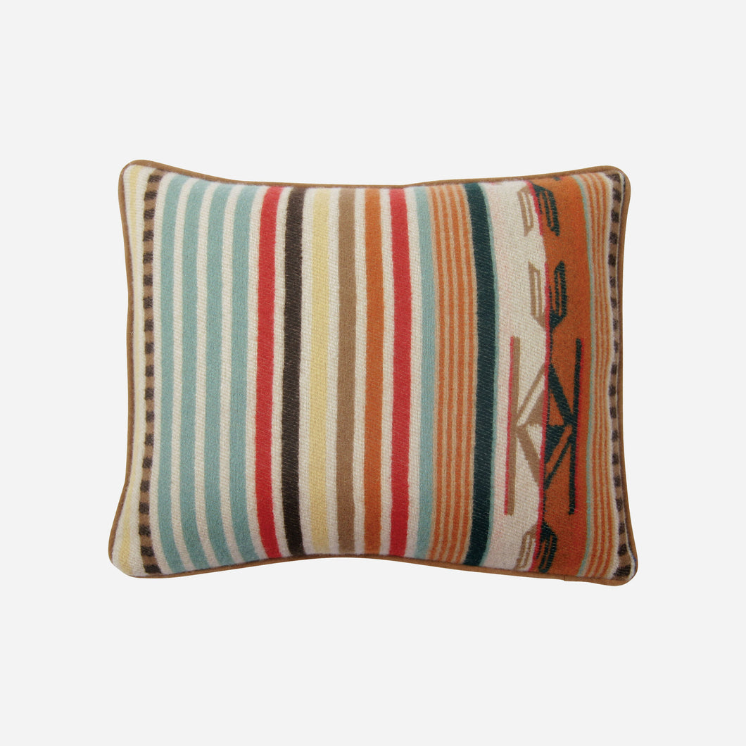 pendleton woolen mills chimayo pillow throw toss coral stripe home good decor