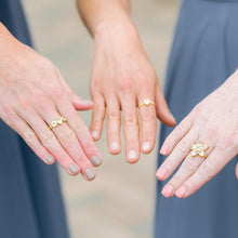 Load image into Gallery viewer, Lizzy crystal ring christina greene wedding jewelry bridal bridesmaid gift simple on model