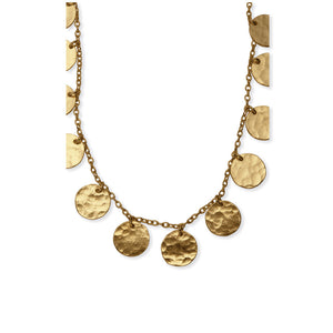 coined necklace by myra bags jewelry for women brass gold coins on chain boho dainty necklace dainty