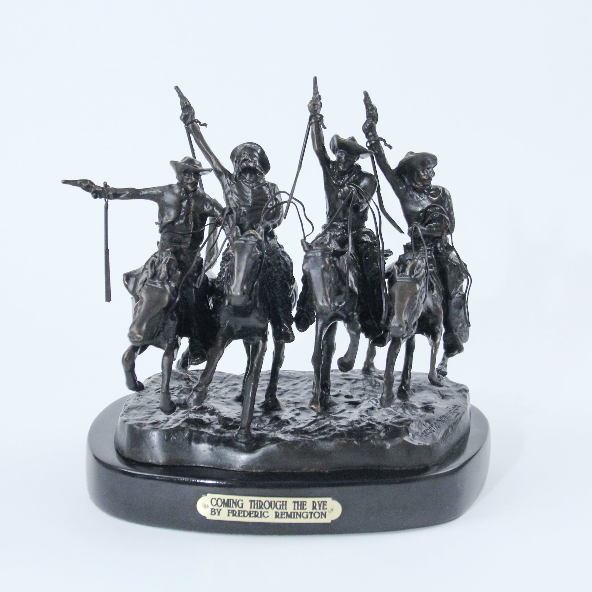 Coming Through The Rye Medium Bronze With Black Marble Base The National Cowboy Museum Store
