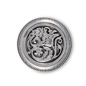 Arthur Court and Vagabond House concho cactuc flower coaster set drink set of 4 silver design southwestern home goods