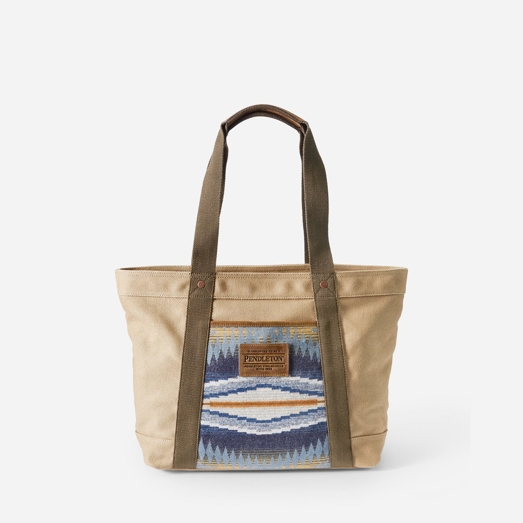 crescent bay tote bag cotton canvas and wool pendleton purse front