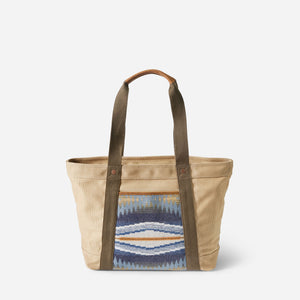 crescent bay tote bag cotton canvas and wool pendleton purse back