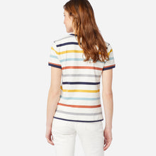 Load image into Gallery viewer, Pendleton Women's Deschutes Ringer Tee, Ivory/Navy Stripe