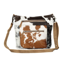 Load image into Gallery viewer, Double Zipper Hairon Shoulder Bag