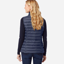 Load image into Gallery viewer, Pendleton woolen mills down vest zip front navy blue indigo warmest layer back