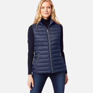 Pendleton woolen mills down vest zip front navy blue indigo warmest layer