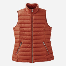 Load image into Gallery viewer, Pendleton woolen mills front zip down vest picante women outerwear orange red