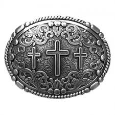 Nocona® Silver Three Cross Belt Buckle