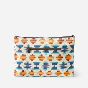 canopy canvas big zip pouch falcon cove pattern wipe clean pendleton woolen mills travel bag back side