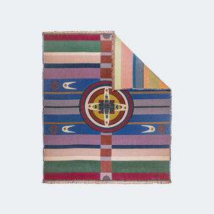 forked eye blanket upper world beings chickasaw nation Mahota textiles woven usa made