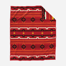 Load image into Gallery viewer, Pendleton woolen mills preservation series robe blanket red PS02 native american art education fundraiser front
