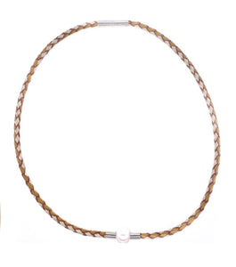 Teton Bolo Necklace, Gold & Gray