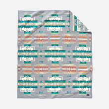 Load image into Gallery viewer, Chief Joseph robe blanket throw grey native american indian traditional pattern wool american made Pendleton Wool Mills