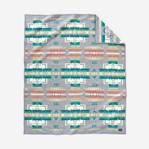 Chief Joseph robe blanket throw grey native american indian traditional pattern wool american made Pendleton Wool Mills
