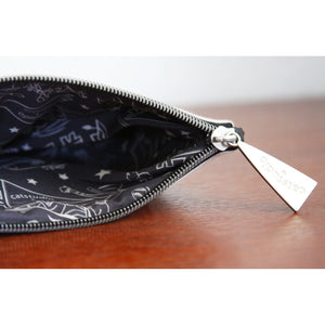 Oklahoma Zipper pouch bag travel embroidered design for Okies inside lining