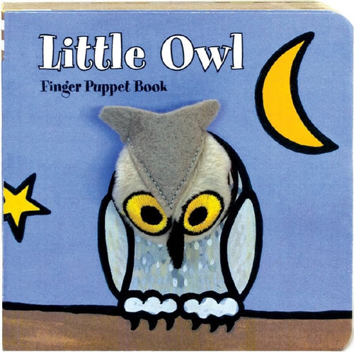 little owl finger puppet book interactive and fun reading for kids with a plush peek-a-boo toy