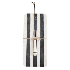 Long Stripe Marble Board Set