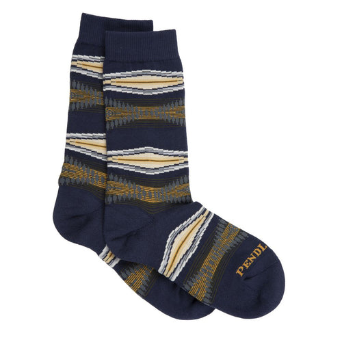 Pendleton woolen mills crew socks marine layer unsiex navy blue hiking backpacking cotton spandex