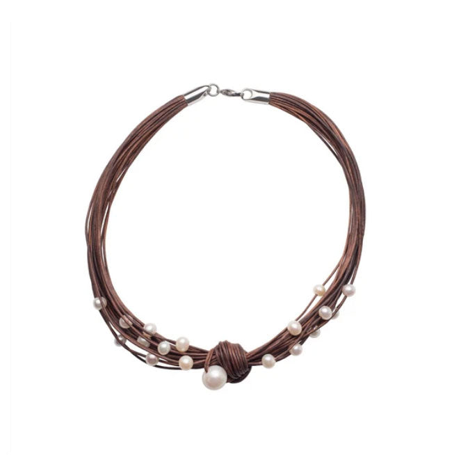 Teton Mountaineering Scatter Necklace, Brown