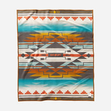 Load image into Gallery viewer, pendleton woolen mills nike n7 seven generations blanket robe native american college fund back