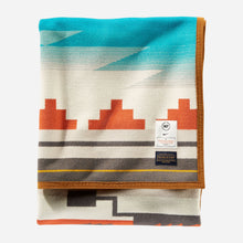 Load image into Gallery viewer, pendleton woolen mills nike n7 seven generations blanket robe native american college fund folded
