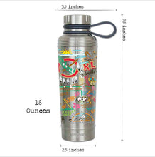 Load image into Gallery viewer, Oklahoma thermal bottle water coffee travel work home gift CatStudio kitchen eco-friendly low waste favorite ok dimensions