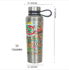 Oklahoma thermal bottle water coffee travel work home gift CatStudio kitchen eco-friendly low waste favorite ok dimensions
