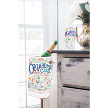 Load image into Gallery viewer, Oklahoma city frosted drinking glass okie gift housewarming kitchen 15 ounces CatStudio wedding present gift