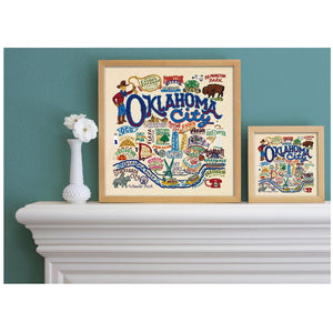 Oklahoma city art print catstudio wall art gift wedding present housewarming