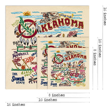 Load image into Gallery viewer, CatStudio Oklahoma art print wall art state pride gift wedding present okie
