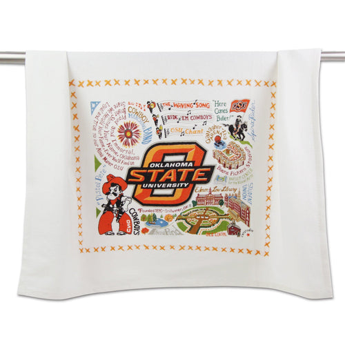 Oklahoma State University OSU cowboys dish towel bar cleaning home goods