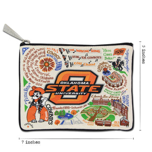 Oklahoma State University OSU Cowboys Zipper pouch dimensions