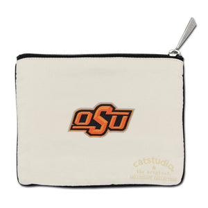 Oklahoma State University OSU Cowboys Zipper pouch back side school logo