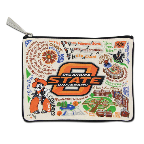 Oklahoma State University OSU Cowboys Zipper pouch
