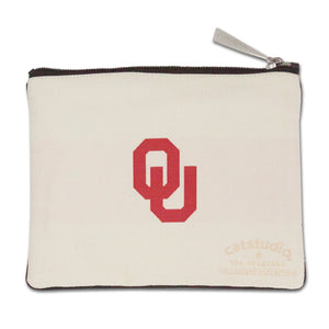 Oklahoma of University OU Sooners Zipper pouch back side school logo