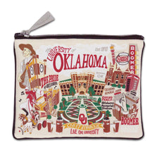 Load image into Gallery viewer, Oklahoma of University OU Sooners Zipper pouch school images bag