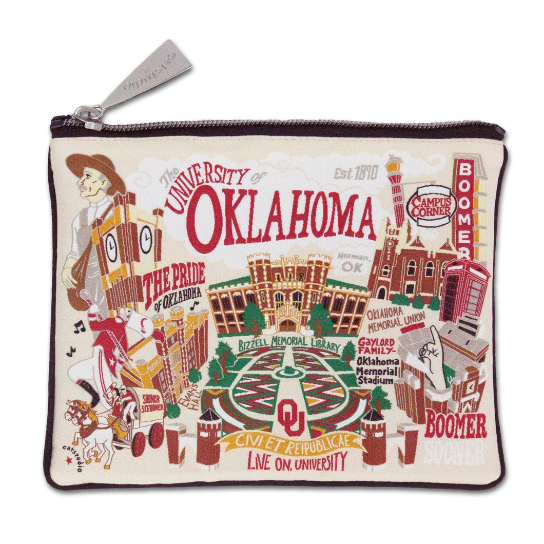 Oklahoma of University OU Sooners Zipper pouch school images bag