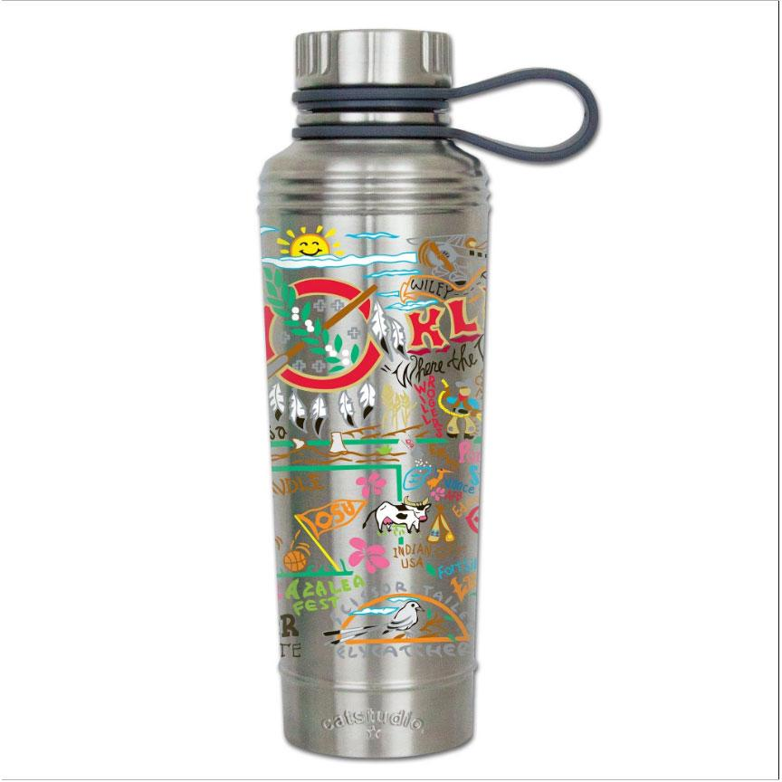 Oklahoma thermal bottle water coffee travel work home gift CatStudio kitchen eco-friendly low waste favorite ok