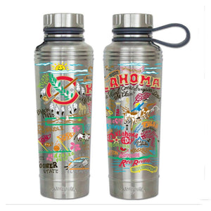 Oklahoma thermal bottle water coffee travel work home gift CatStudio kitchen eco-friendly low waste favorite ok multiple views