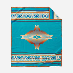 pendleton woolen mills pagosa springs blanket rob turquoise healing health peace wool warm usa made reversible front