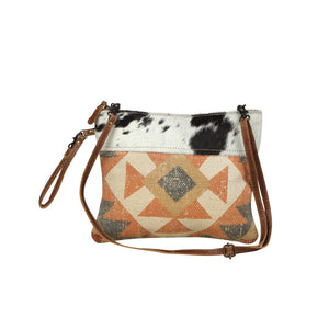 parochial crossbody bag small hairon hide cow black and white rug leather strap adjustable rug pattern