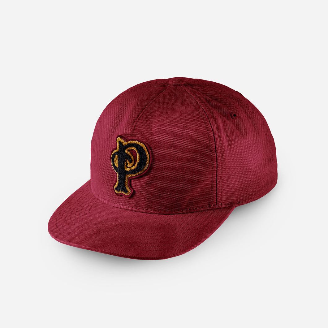 Pendleton p patch hat red wine ballcap baseball hat unisex