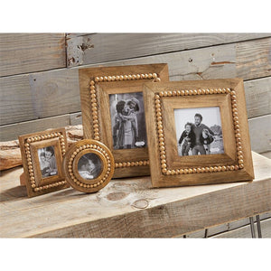 Wooden Bead Picture Frame