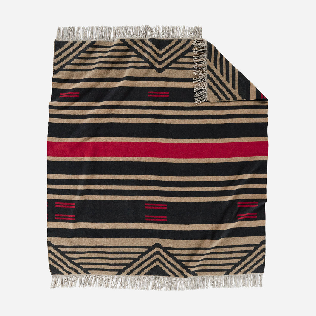 Pinyon Stripe Fringed Throw